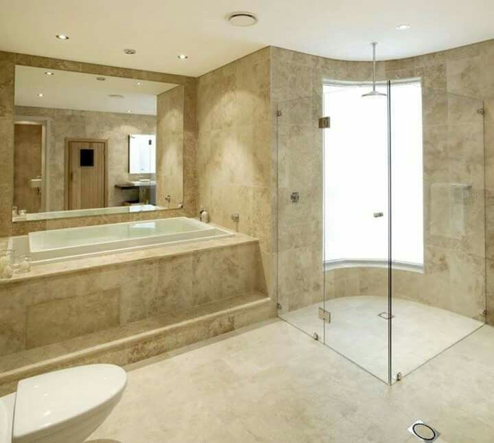 Travertine Bathroom Designs Pinmarcos Bta On Diseño De Baño  Pinterest