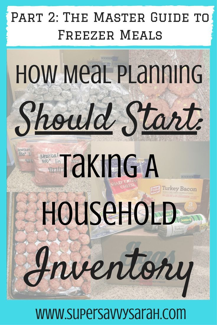 How Meal Planning Should Start: Taking a Household Inventory - Meal Planning Part 2 images