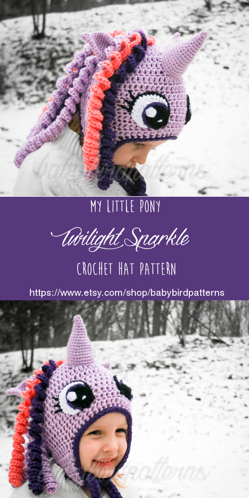 my little pony crocheted hat patterns