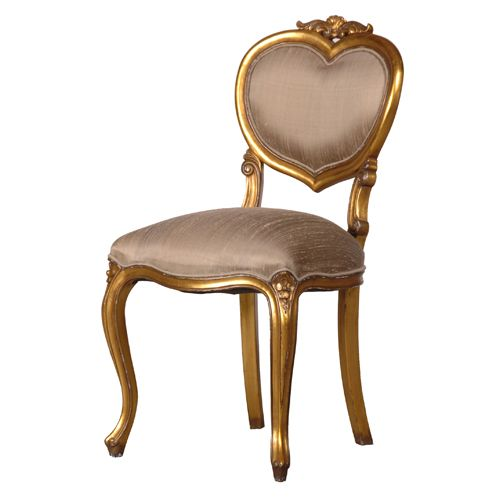 Gold Heart Chair Bedroom Chair