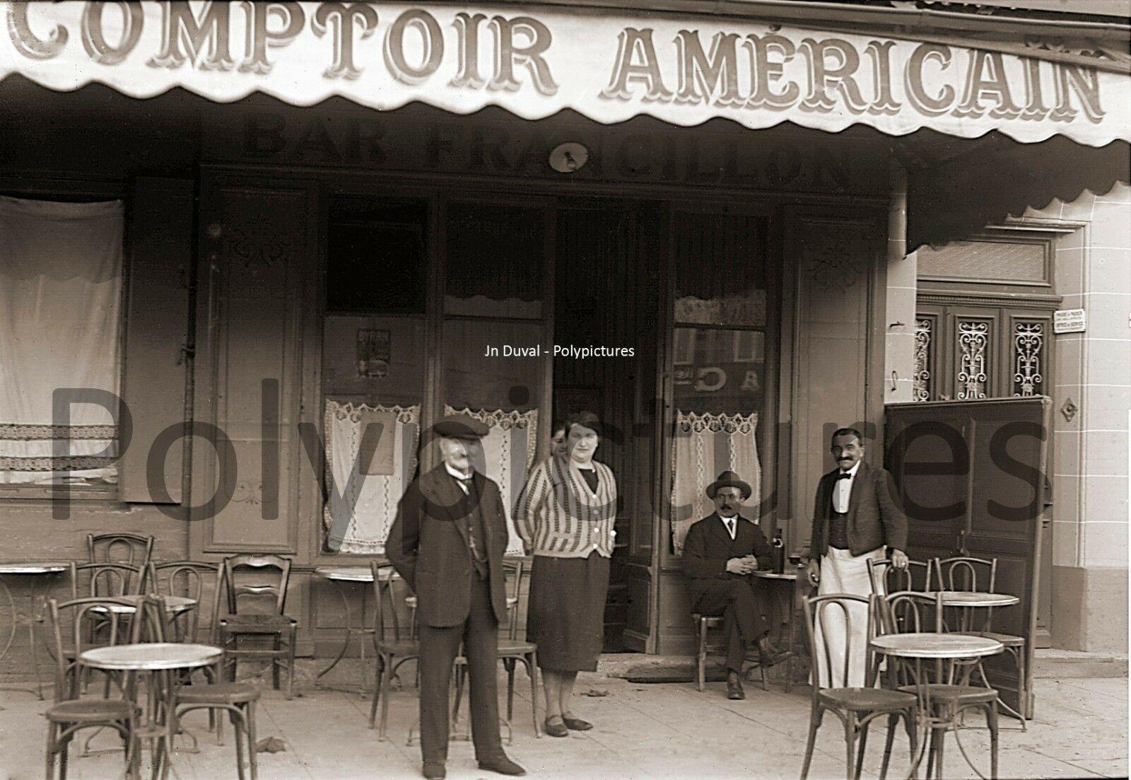 Photo Ancien Commerce Comptoir Americain Bar Bistrot Cafe Tirage