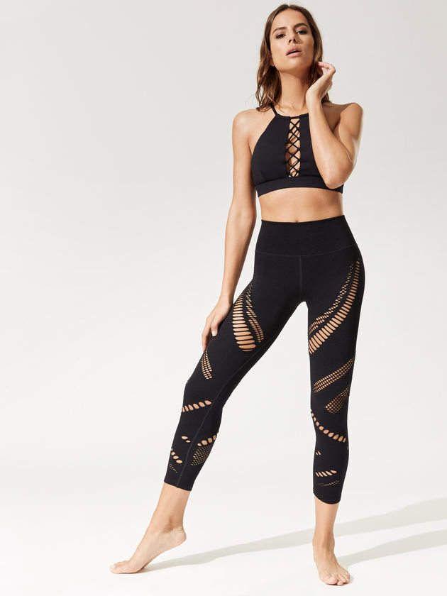 bd23678fc46d3 ALO YOGA High-Waist Seamless Radiance Capri | Activewear | Skirt ...