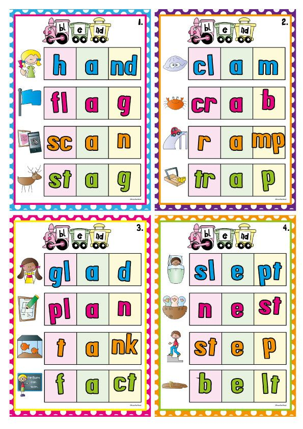 Blends Consonant Blends In Initial And Final Position Bundle