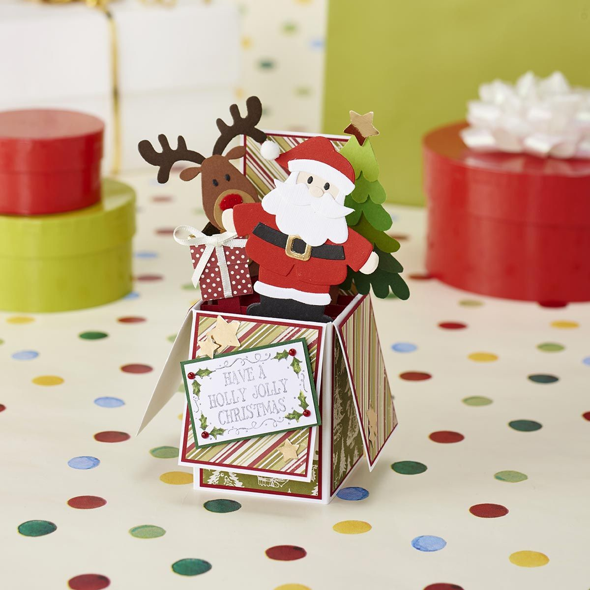 Free christmas exploding boxcard templates boxed