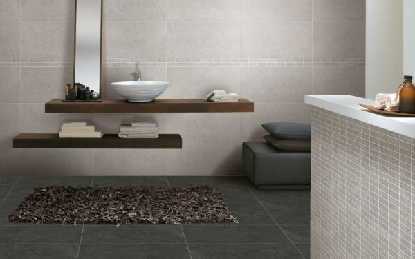 beige Fliesen im Badezimmer | house | Pinterest ... | {Badezimmer fliesen grau beige 12}