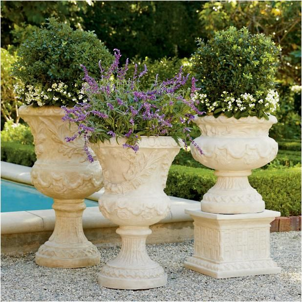 Provence Urns And Plinth Frontgate Outdoor Planters 400 x 300