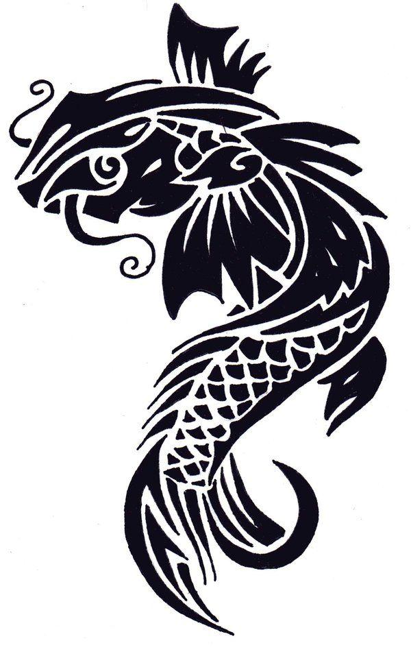 Koi Fish Design By Paigeb123 On Deviantart Koi Fish Tattoo Tribal Tattoos Koi Fish Designs
