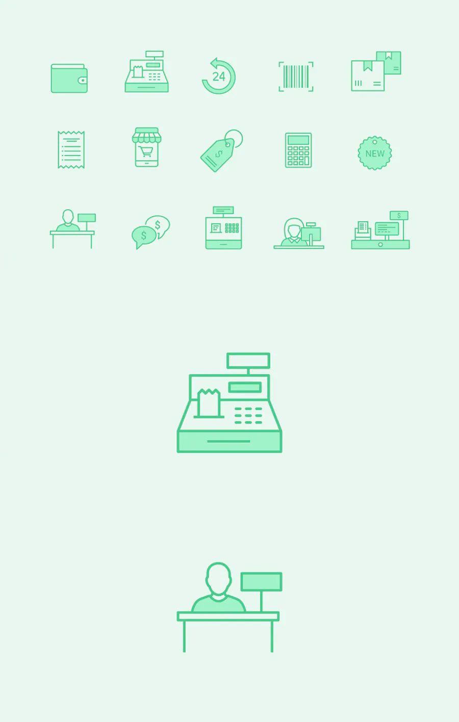 15 retail cashier icons icon design icon design template