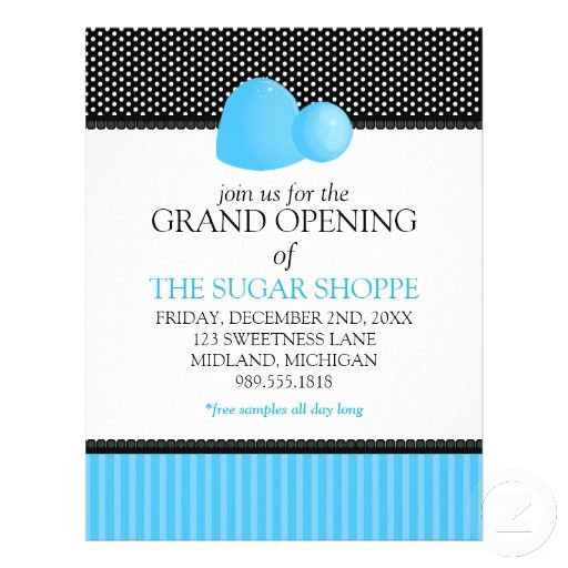 candy shop grand opening announcement flyers pinterest grand opening