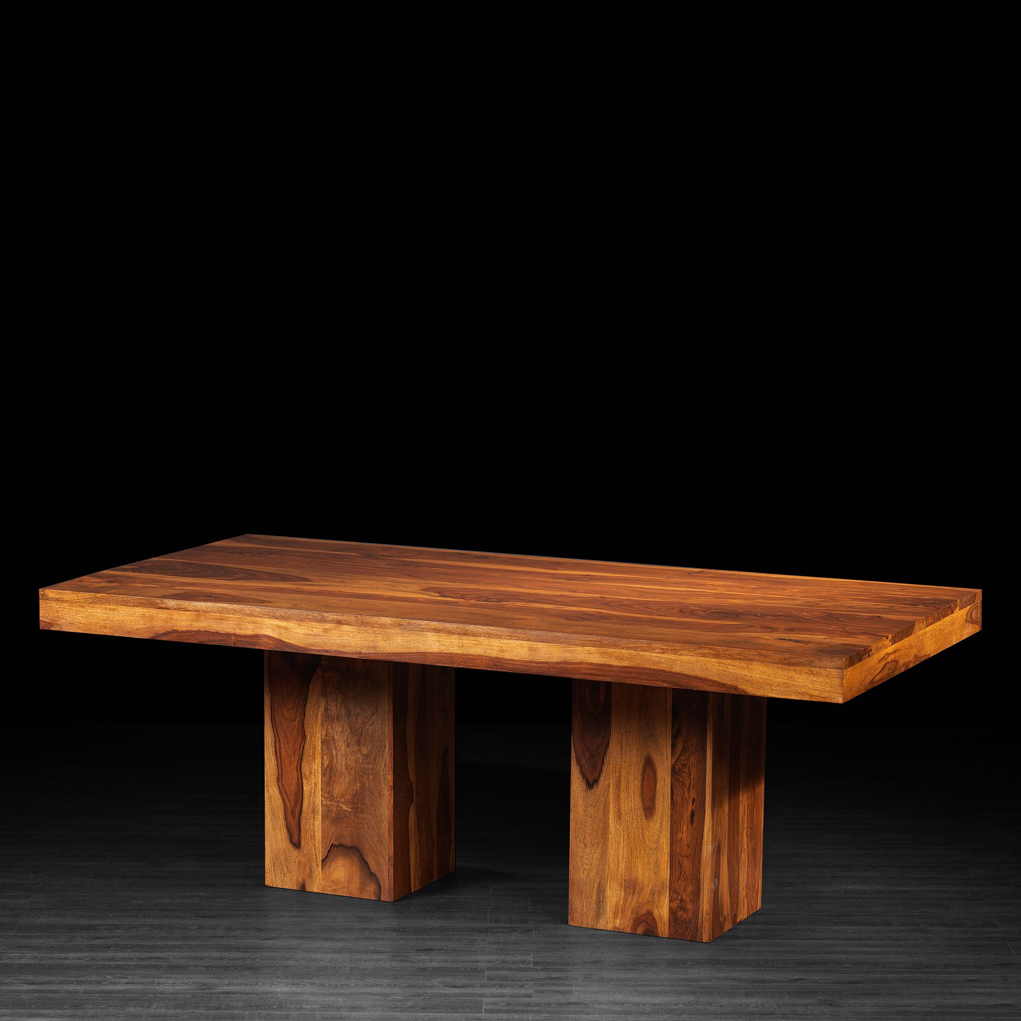 Anand Rectangular Dining Table Made Of Rosewood (Light Brown Shown)
