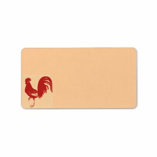 Red Rooster Address Label  #AddressLabel #Rooster