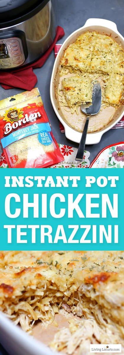 Instant Pot Chicken Tetrazzini #creamychickencasserole