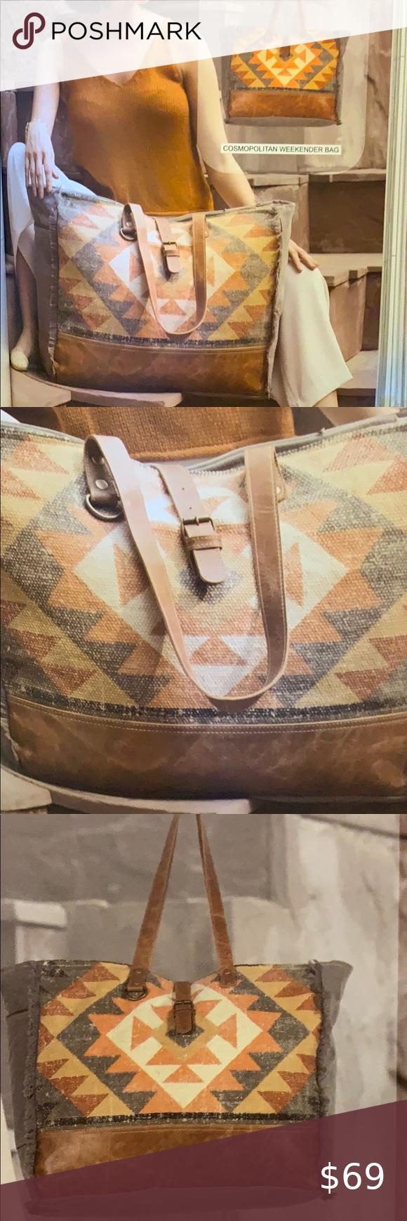 Myra Cosmopolitan Weekender Bag Canvas Leather In 2020 Weekend Travel Bags Weekender Bag Overnight Travel Bag Get the lowest price on your favorite brands at poshmark. pinterest
