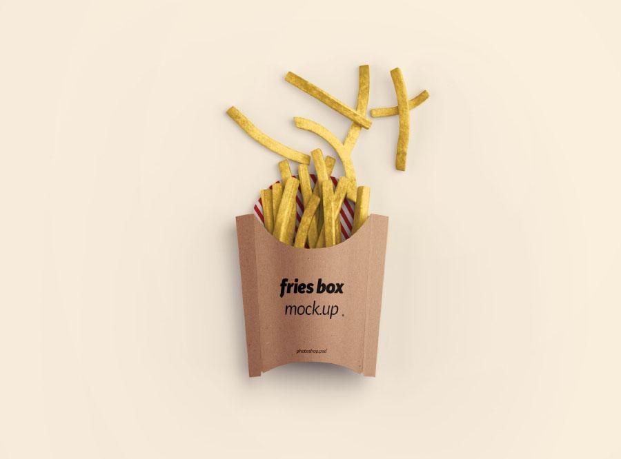 Download Free French Fries Box Psd Mockup Box Mockup Free Packaging Mockup Packaging Mockup