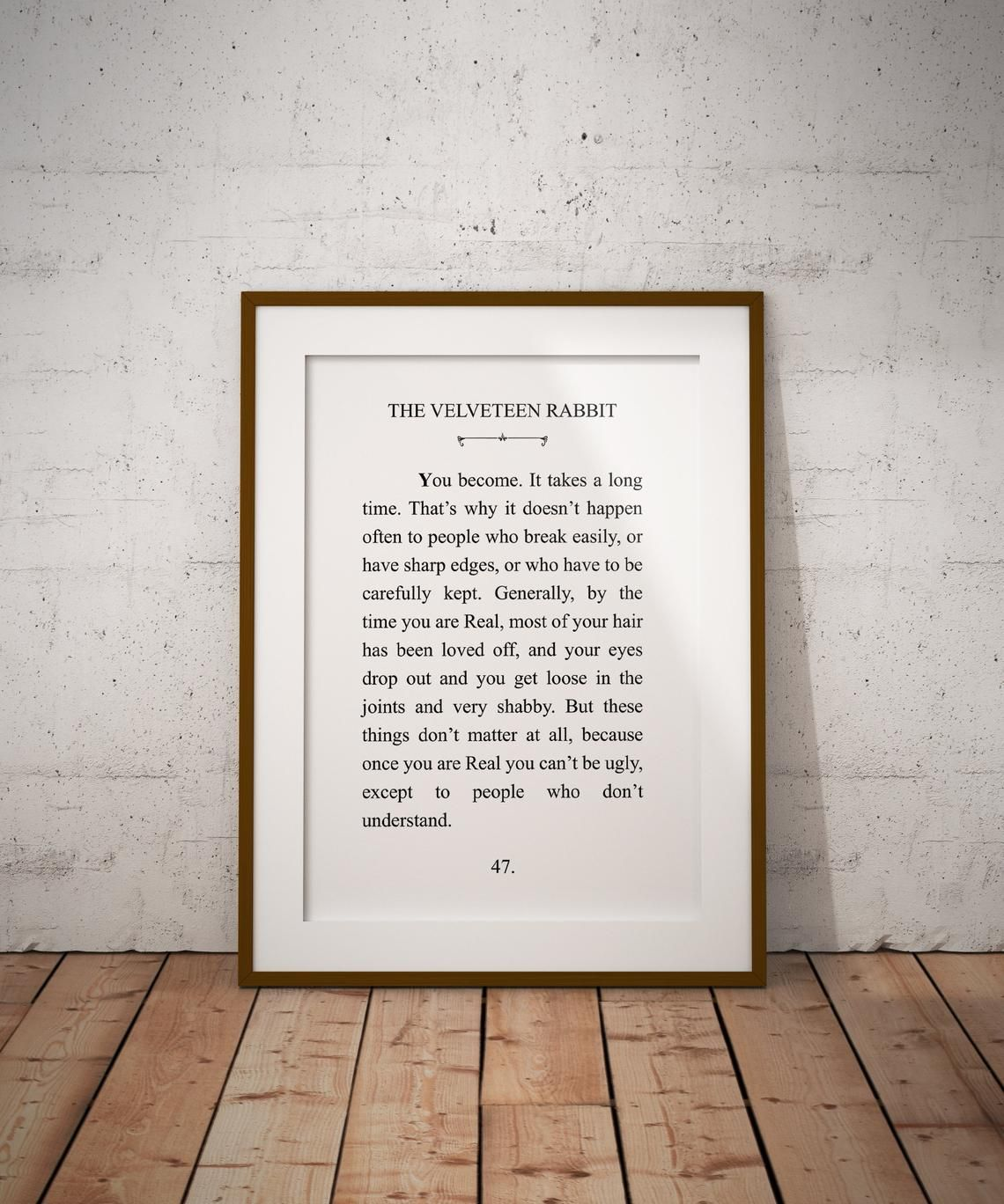The Velveteen Rabbit Literature Digital Printable
