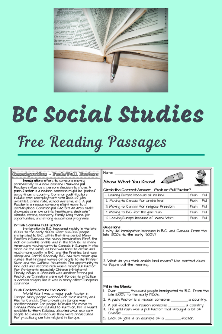 small resolution of Click the link for free reading comprehension passages on my blog. Students  can read about Briti…   Social studies