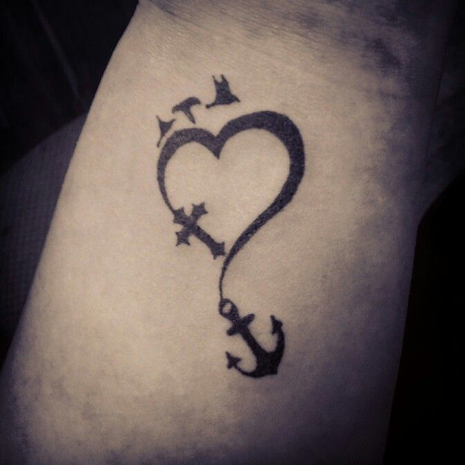 45 Perfectly Cute Faith Hope Love Tattoos And Designs With: Faith Hope Love Tattoo On My Wrist