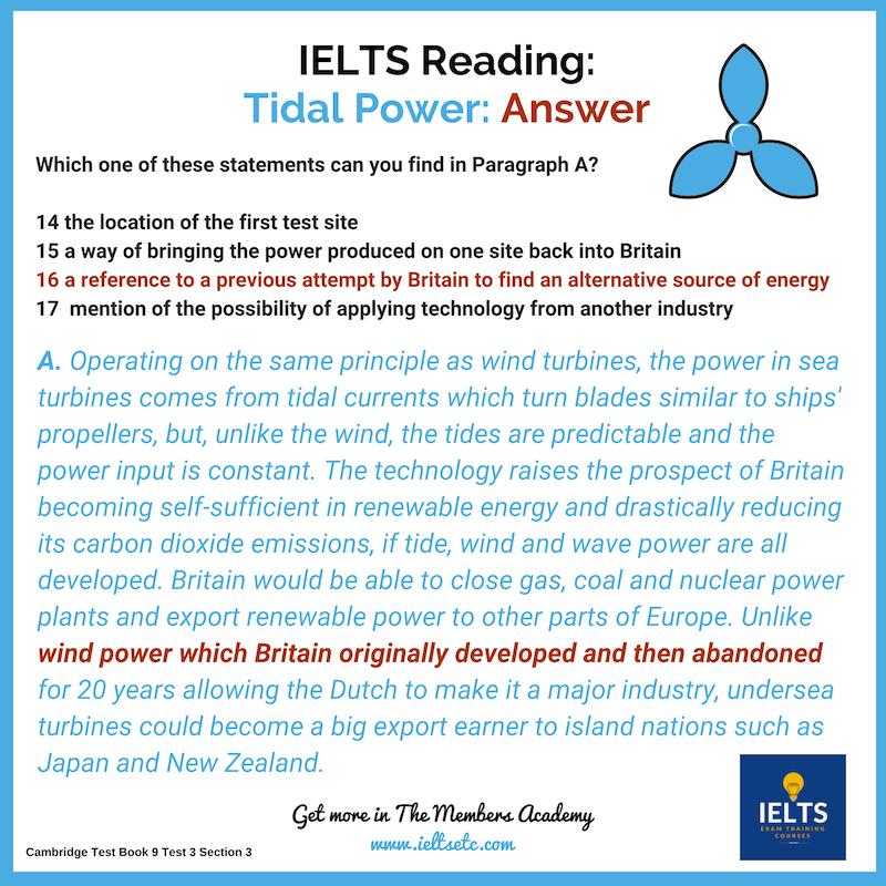 IELTS Reading: Tidal Power   Writing   Ielts reading, Ielts