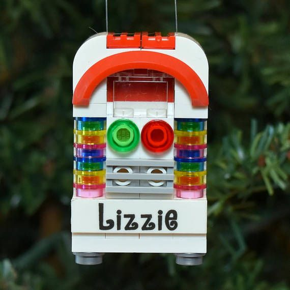 LEGO® Jukebox Personalized Christmas Ornament Ornaments 4 Charity