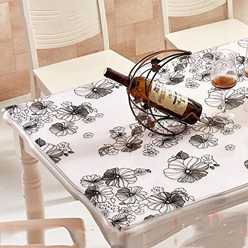Coffee Tablecloth Waterproof Anti Oil Anti Hot Wash Pvc Table Mat Transparent Table Cloth C 65x130cm 26x51inch Small Dining Table Cloth Table Mats