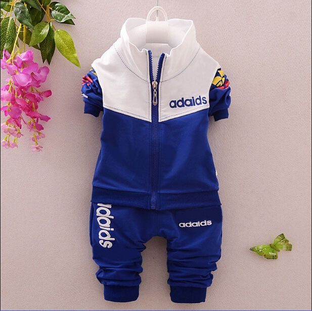 1d014e187 newborn baby boy tracksuit suit baby girl clothing sets Long Shirt+Pants 0-2  old