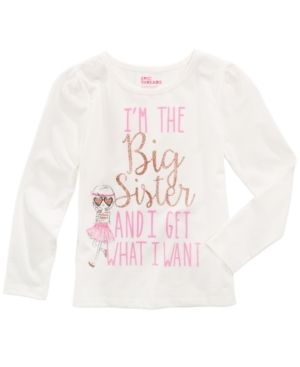 Epic Threads Mix and Match Big Sister Graphic-Print Shirt, Toddler & Little Girls (2T-6X), Created for Macy's - Ivory/Cream