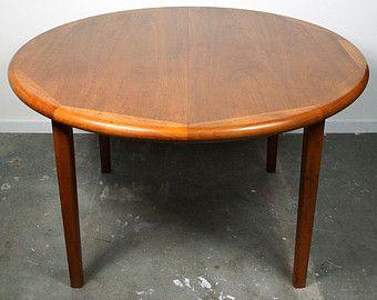 Danish Teak Dining Table Laurits M Larsen Mid Century Modern Round Table
