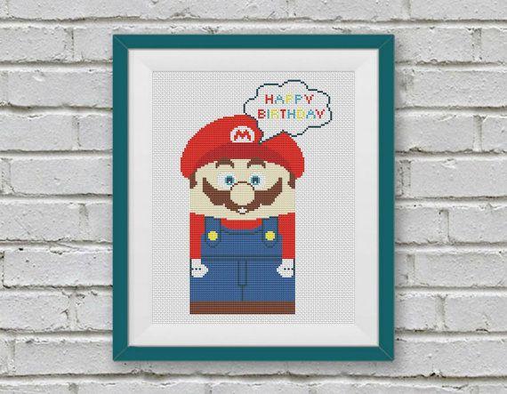 BOGO FREE! Super Mario, Cross Stitch Pattern, Retro Video Game Super Mario Cross Stitch, Embroidery Needlework PDF Instant Download,S097