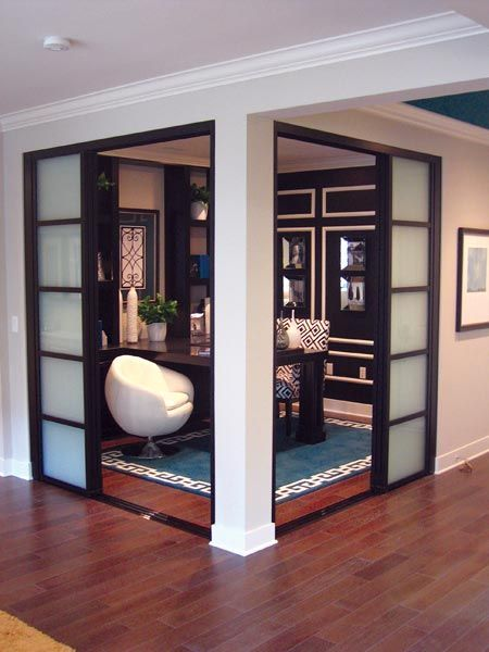 Office space decorative sliding doors new store for Schumacher homes catawba