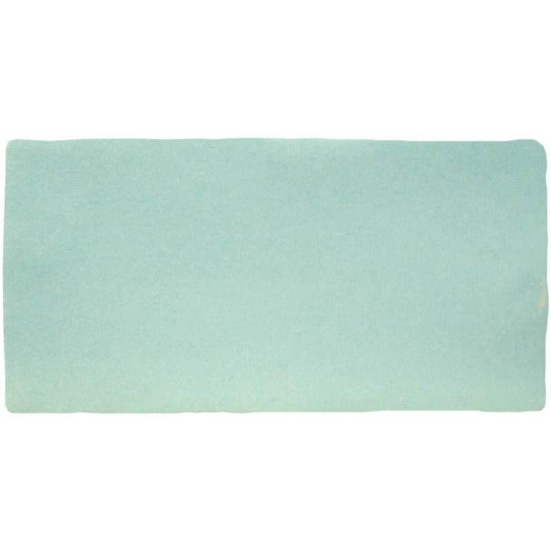Faience De Style Artisanal 7 5 X 15 Cm Bleu Vert Pastel An0802018 Carrelage Retro Briquette De Parement Et Vert Pastel