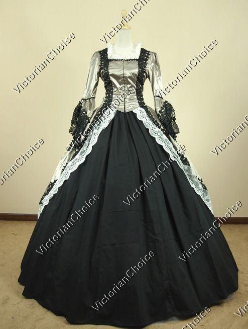 Marie+Antoinette+Renaissance+Period+Dress+Ball+Gown+Prom+Reenactment ...