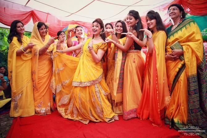 Mehendi Ceremony Look : Divyanka looks like a fairy from heaven on her haldi ceremony
