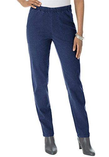 28bd01e098a Roamans Womens Plus Size Petite Straight Leg 2Pocket Leggings Indigo28 Wp      Check this
