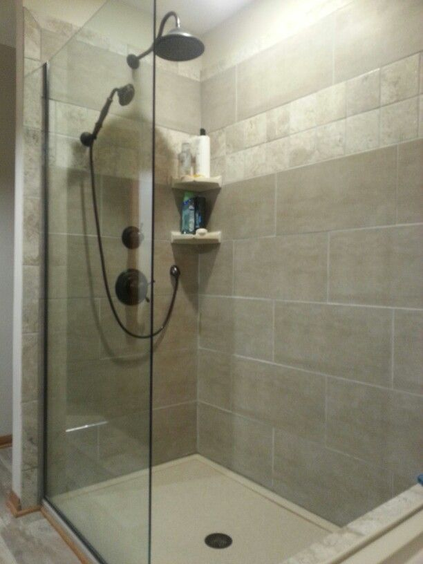 Our remodeled shower...removed 30 year old fiberglass shower ...