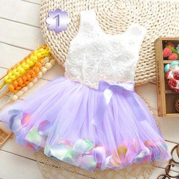 Cute Floral Wedding Dress for Toddler Girls - Designer Baby ...