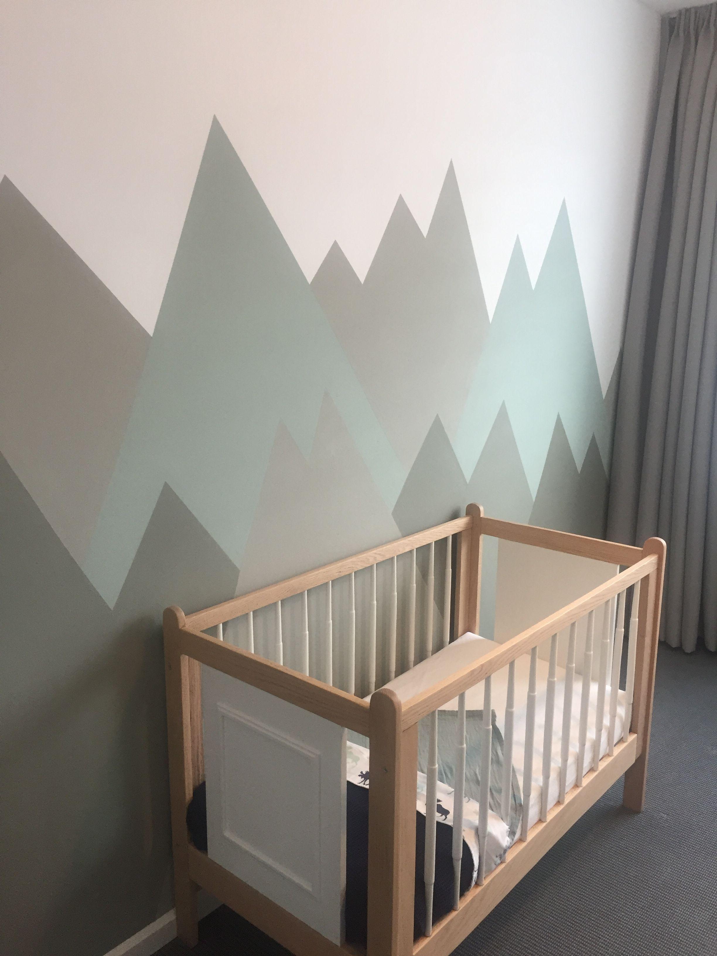 Baby Boy Mountain Theme Vintage Crib Wood Mountain Nursery