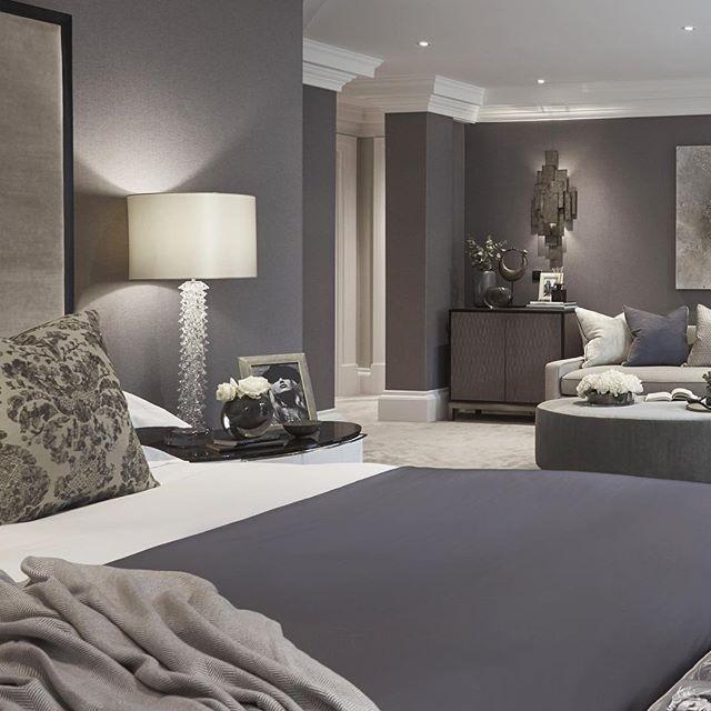 amazing bedroom lighting | Master bedroom with amazing lights from @portaromanauk # ...
