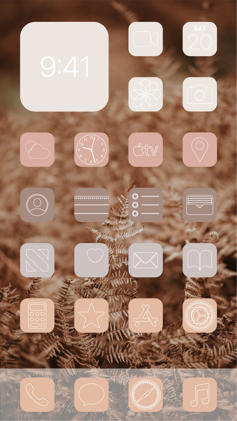 Aesthetic Nude iOS 14 App Icons Pack - 108 Icons -