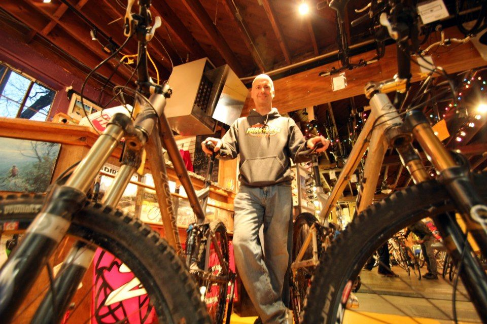 Preston Stempler stands beside his two new Turner bikes. You can never have too many