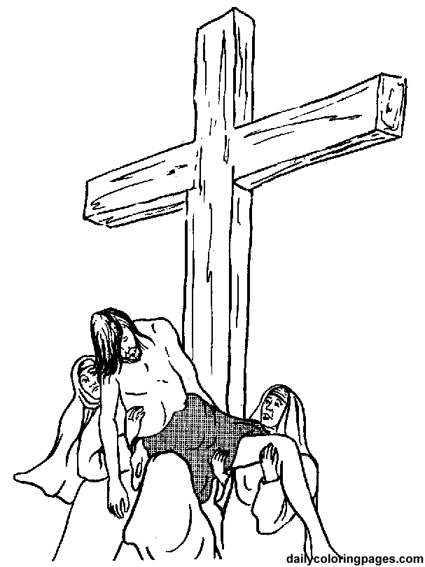 Inspirational Coloring Pages Of Jesus On The Cross 21 Crucifixion and Resurrection of