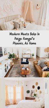 Modern Meets Boho In Paige Rangel's Phoenix, Az Home – #az #Boho #Home #meets …