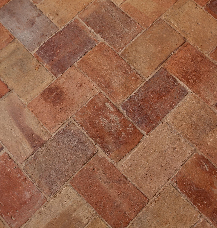 Reclaimed Herringbone Terra Cotta Flooring Terracota