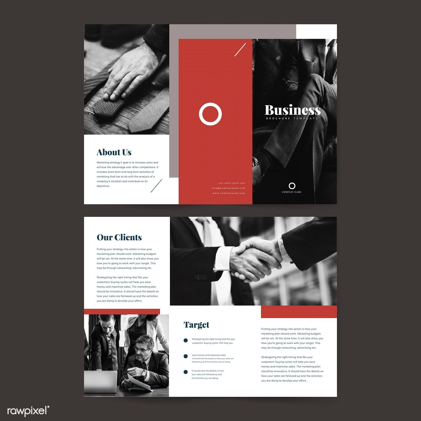 Business Presentation Brochure Template Vector Free Image By