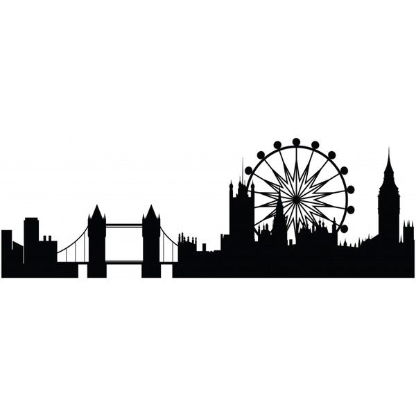 Line Drawing Tattoo London : London skyline tower bridge the eye wall sticker vinyl