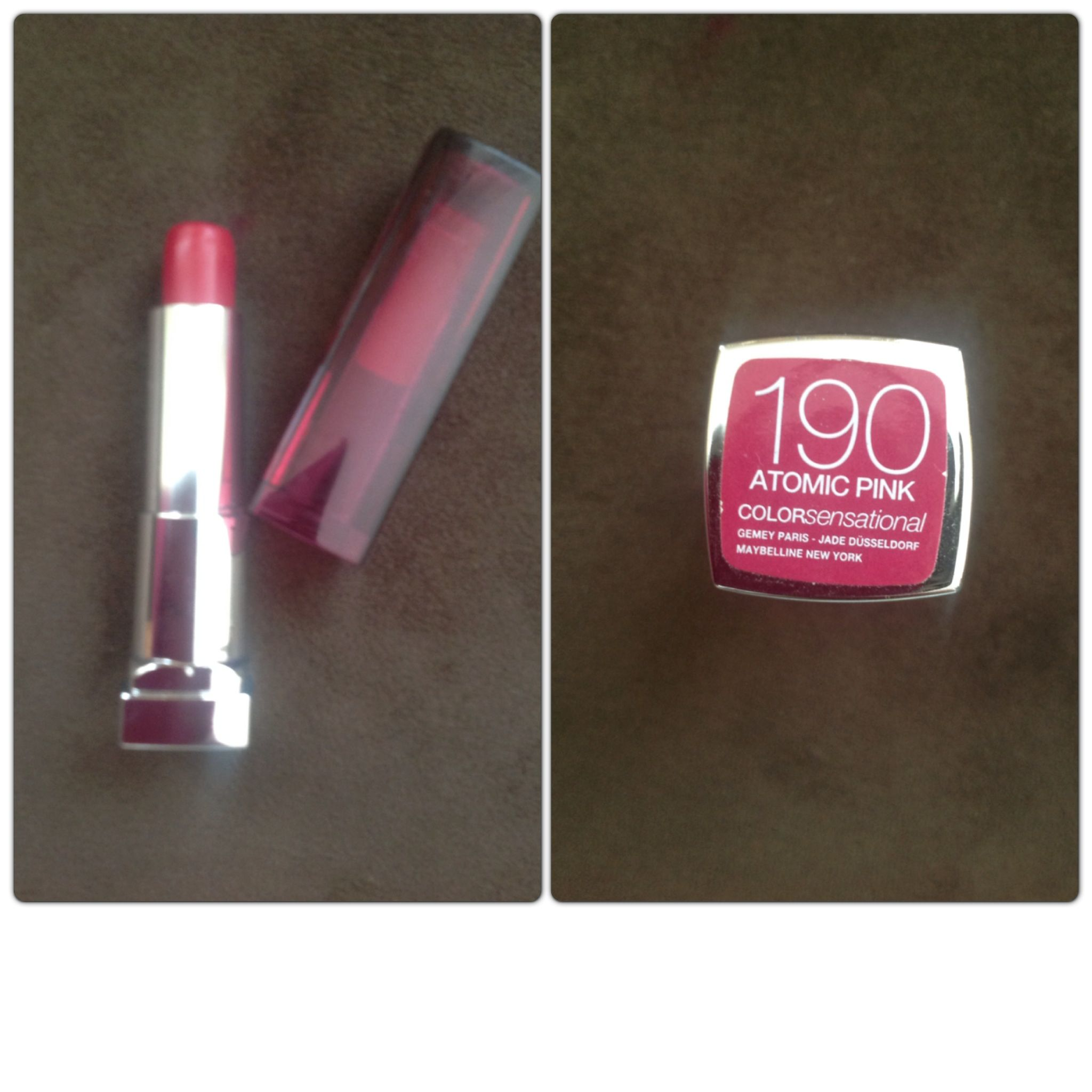 Maybelline Lip Stick 190 Make Up Yazın Bi Allık Bi Rimel Bir De Bu
