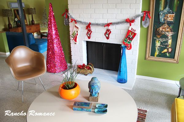 mid century modern christmas decor