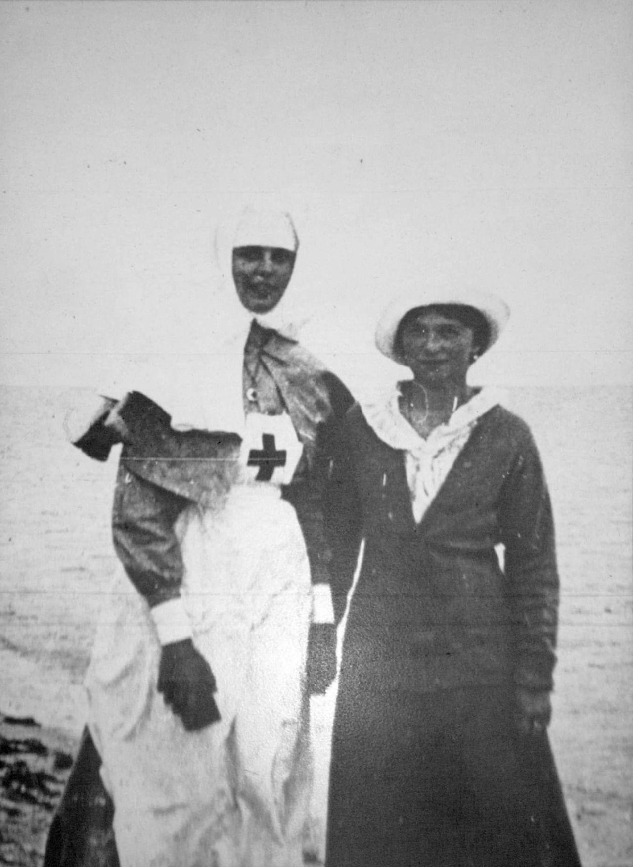 """The Grand Duchess Olga Nikolaevna Romanova of Russia with Margarita """"Rita"""" Sergeevna Khitrovo.  """"AL"""""""
