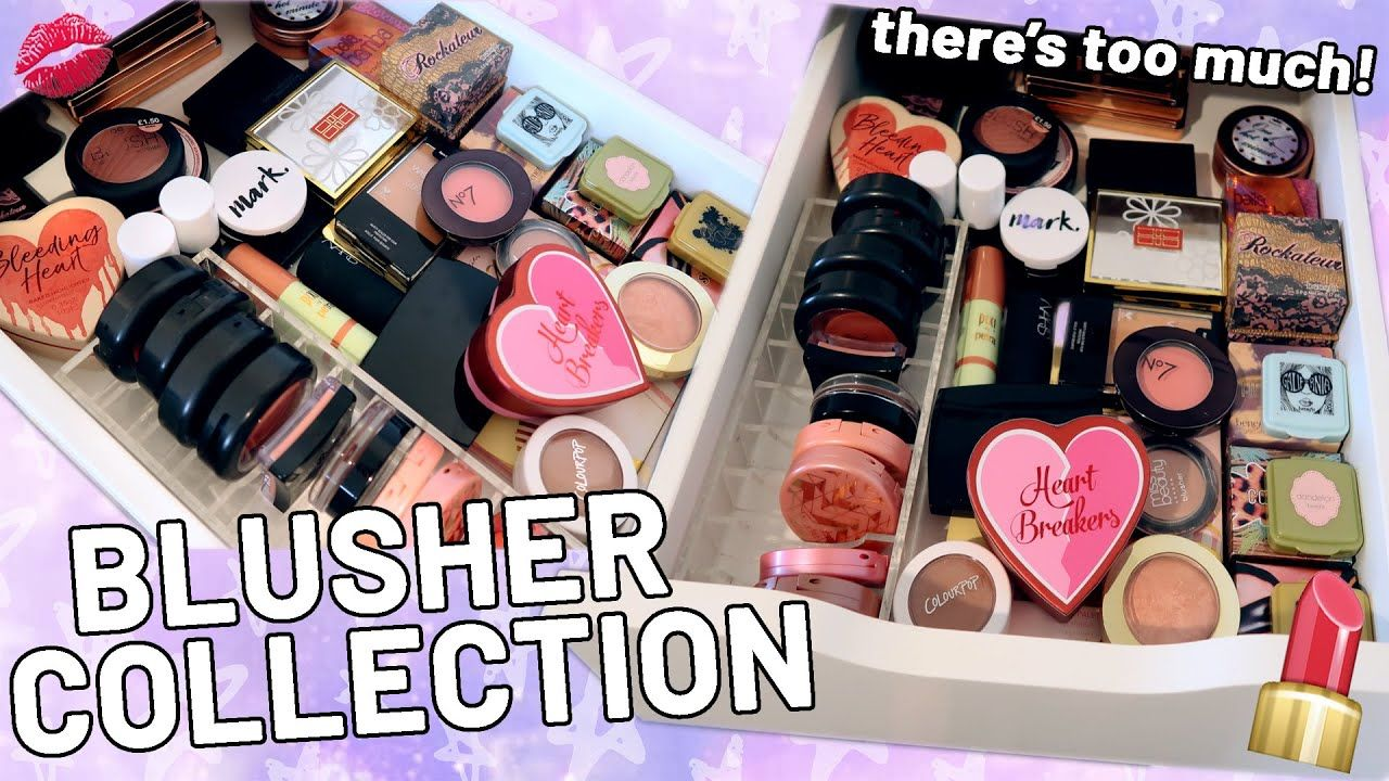Huge Blusher Collection Blush Makeup Collection August 2020 Luce Ste In 2020 Blush Makeup Makeup Collection Blusher