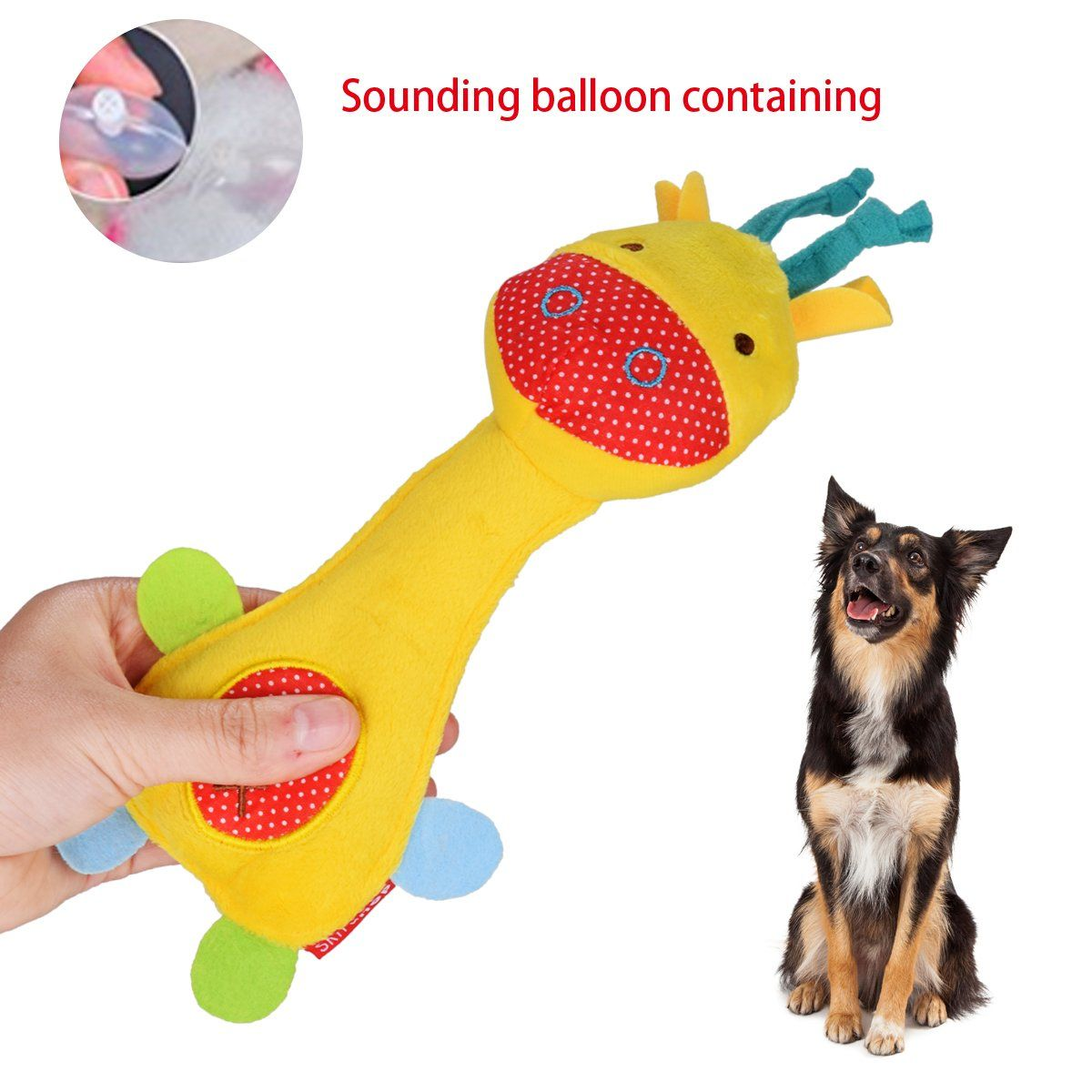 Wowowo Dog Plush Toys Squeaky Dog Toys Puppy Dog Chew Toys For