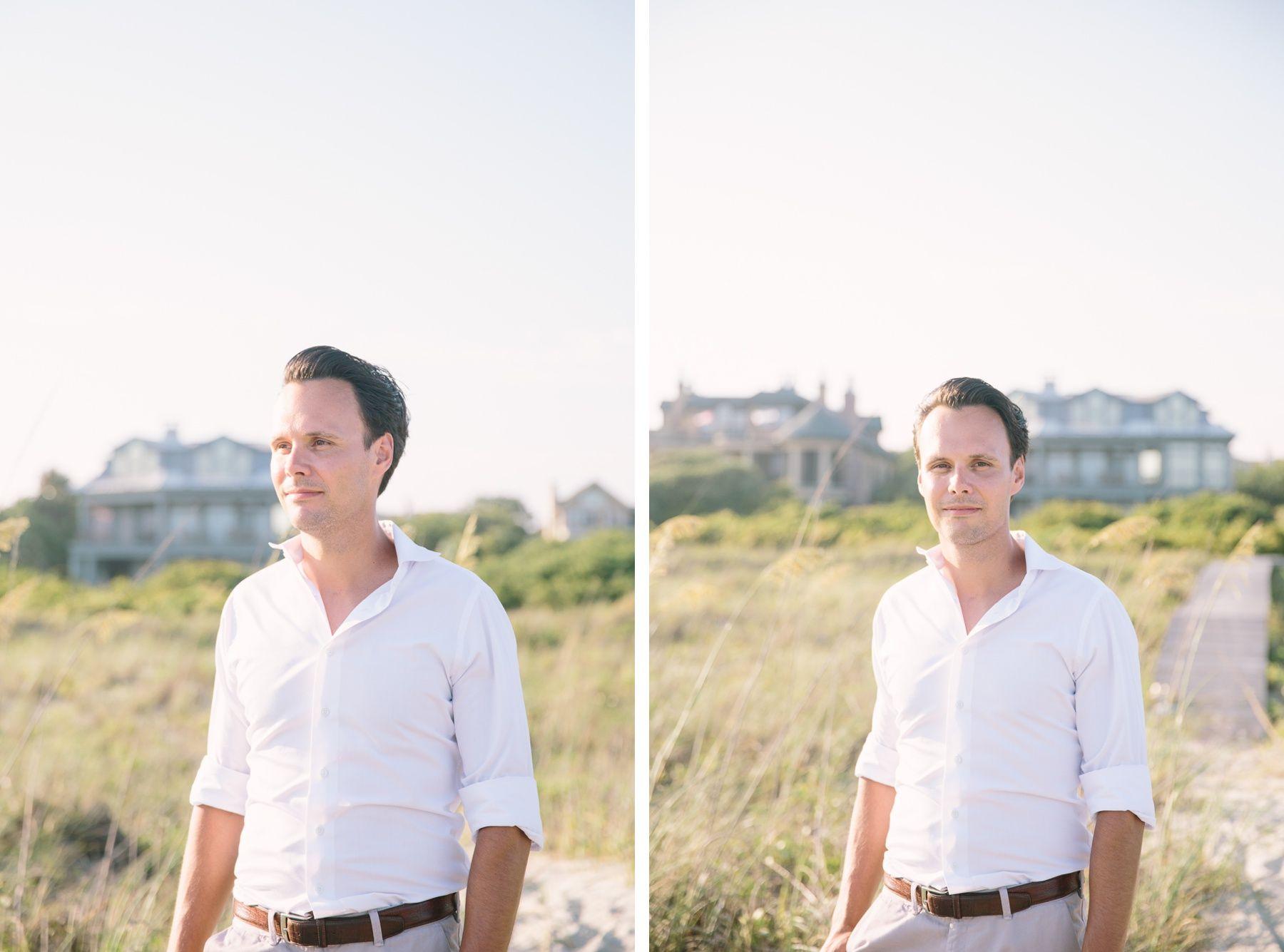 Some Groom Portraits Before His Beach Wedding On Kiawah Island Sc Charleston Photographer